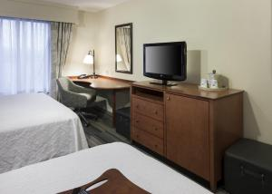 A television and/or entertainment center at Hampton Inn & Suites Davenport