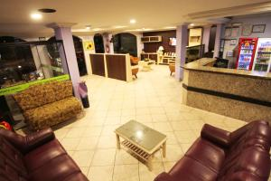 The lobby or reception area at Hotel Três Fronteiras