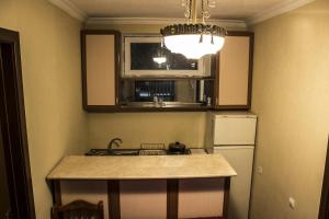 A kitchen or kitchenette at Guest House Kavkasioni 33