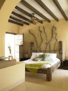 Cama o camas de una habitación en La Almendra y El Gitano