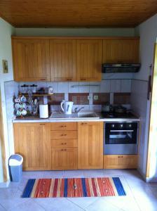 Kuchyň nebo kuchyňský kout v ubytování Villa Sandra
