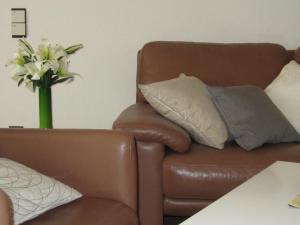 Ein Sitzbereich in der Unterkunft Greetsiel Grachten-Residenz