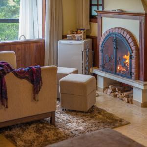 Uma área de estar em Pousada Spa Mirante da Colyna
