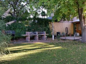 A garden outside Cabañas Perdriel