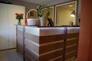 Lobbyn eller receptionsområdet på Spoton Hostel & Sportsbar
