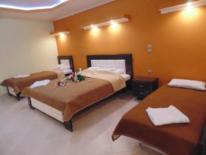 A bed or beds in a room at House Michalis