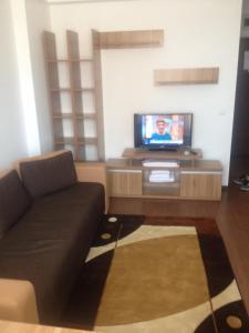 Un televizor și/sau centru de divertisment la Studio Apartment Sofia