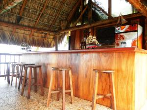 The lounge or bar area at Punta Roca Surf Resort