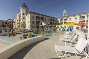 A porch or other outdoor area at Cedar Point Hotel Breakers