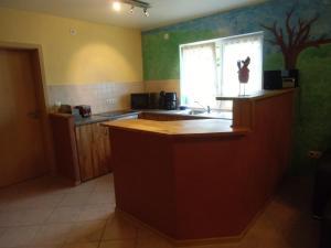 Küche/Küchenzeile in der Unterkunft Am Sonnenhang