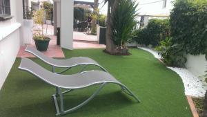Jardín al aire libre en Hotel Domus