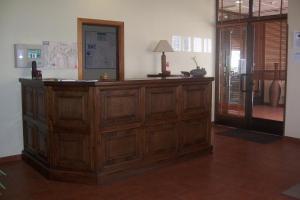 The lobby or reception area at Hotel Restaurante Los Prados