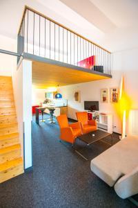 Ein Sitzbereich in der Unterkunft Hotel Resort Schloss Auerstedt
