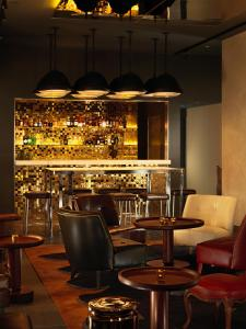 The lounge or bar area at St Martins Lane
