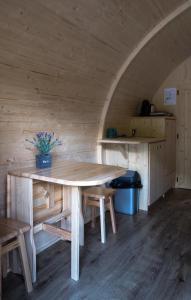 Essbereich auf dem Campingplatz
