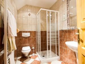 Koupelna v ubytování Hotel Šumava