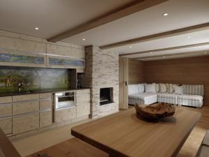 Küche/Küchenzeile in der Unterkunft Ferienwohnung Chalet Camilla
