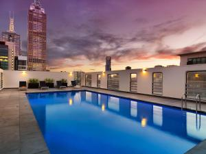 The swimming pool at or near Hotel Grand Chancellor Melbourne
