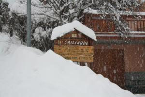 Chalet La Caillaude during the winter