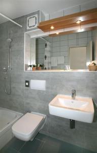Ein Badezimmer in der Unterkunft Hotel Lindenstraße