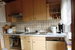 Küche/Küchenzeile in der Unterkunft Ferienwohnung Speth