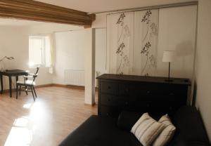 Ein Bett oder Betten in einem Zimmer der Unterkunft 3 Seiten Ferienwohnung