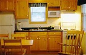 A kitchen or kitchenette at Cabot Trail Sea & Golf Chalets