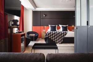 """Cama ou camas em um quarto em Terrass"""" Hotel"""