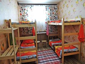 A bunk bed or bunk beds in a room at Prival