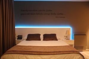 Cama o camas de una habitación en Koikili Aterpetxea
