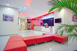 The lobby or reception area at Red Planet Davao