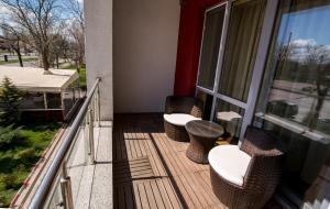 Un balcon sau o terasă la Apartamente Coralia Mamaia