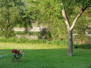 Ein Garten an der Unterkunft Moselperle