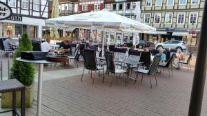 Ein Restaurant oder anderes Speiselokal in der Unterkunft Hotel Ratskeller Lüchow
