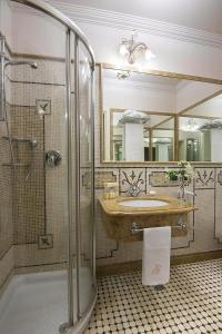 A bathroom at Liberty Hotel