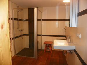 Ein Badezimmer in der Unterkunft Ferienwohnung Göttsche-Hof