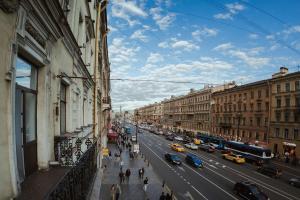 Общий вид на город Санкт-Петербург или вид на город из отеля