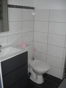 Salle de bains dans l'établissement Gite Izaxulo