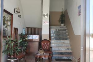 A área de receção ou átrio de Hospedaria D´Ines De Castro