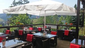 Ein Restaurant oder anderes Speiselokal in der Unterkunft Panorama Hotel Oberwiesenthal