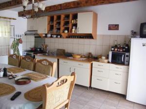 A kitchen or kitchenette at Pensiunea Casa Filoxenia