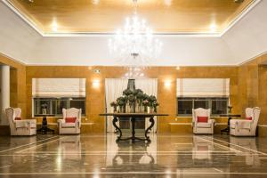 The lobby or reception area at Bella Beach Hotel