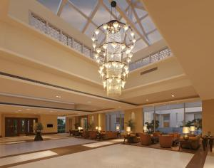 The lobby or reception area at DoubleTree by Hilton Agra