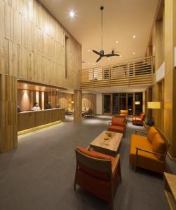 The lobby or reception area at Dhensa Boutique Resort