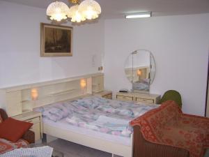 Postel nebo postele na pokoji v ubytování Penzion Eva