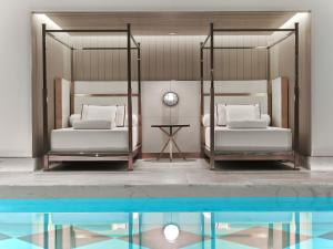 The swimming pool at or near Baccarat Hotel and Residences New York