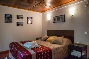 A bed or beds in a room at Bungalows Termas de Melgaço