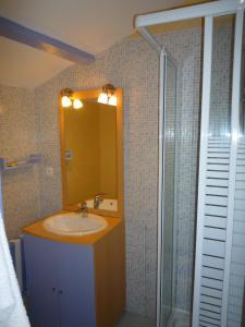 Salle de bains dans l'établissement Au Bon Accueil