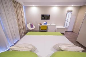 Cama o camas de una habitación en RF San Borondon