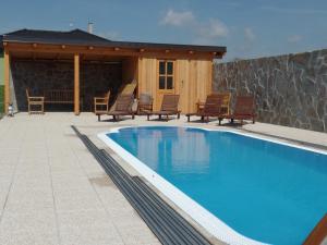 The swimming pool at or near Penzion Keramika